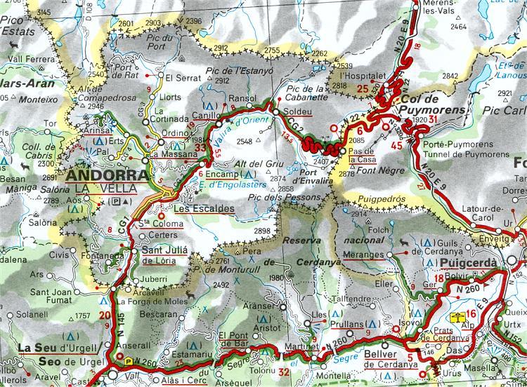 Cartes et plans d'Andorre | Cartographie d'Andorre